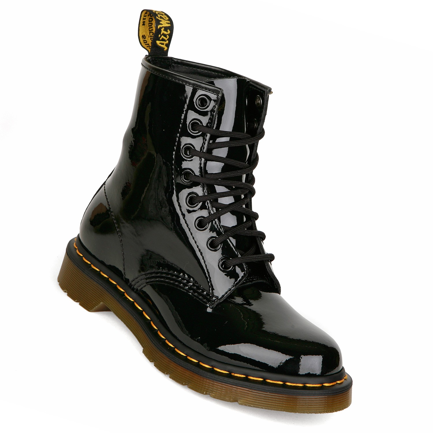 dr martens 1460 w damen boots 8 loch doc martens schwarz lack gr 37 38 ebay. Black Bedroom Furniture Sets. Home Design Ideas
