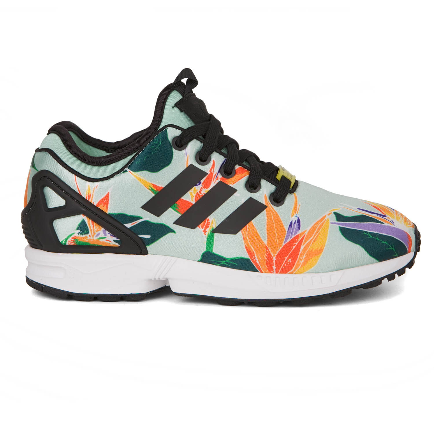 adidas zx flux nps damen schuhe blue green blumen ebay. Black Bedroom Furniture Sets. Home Design Ideas