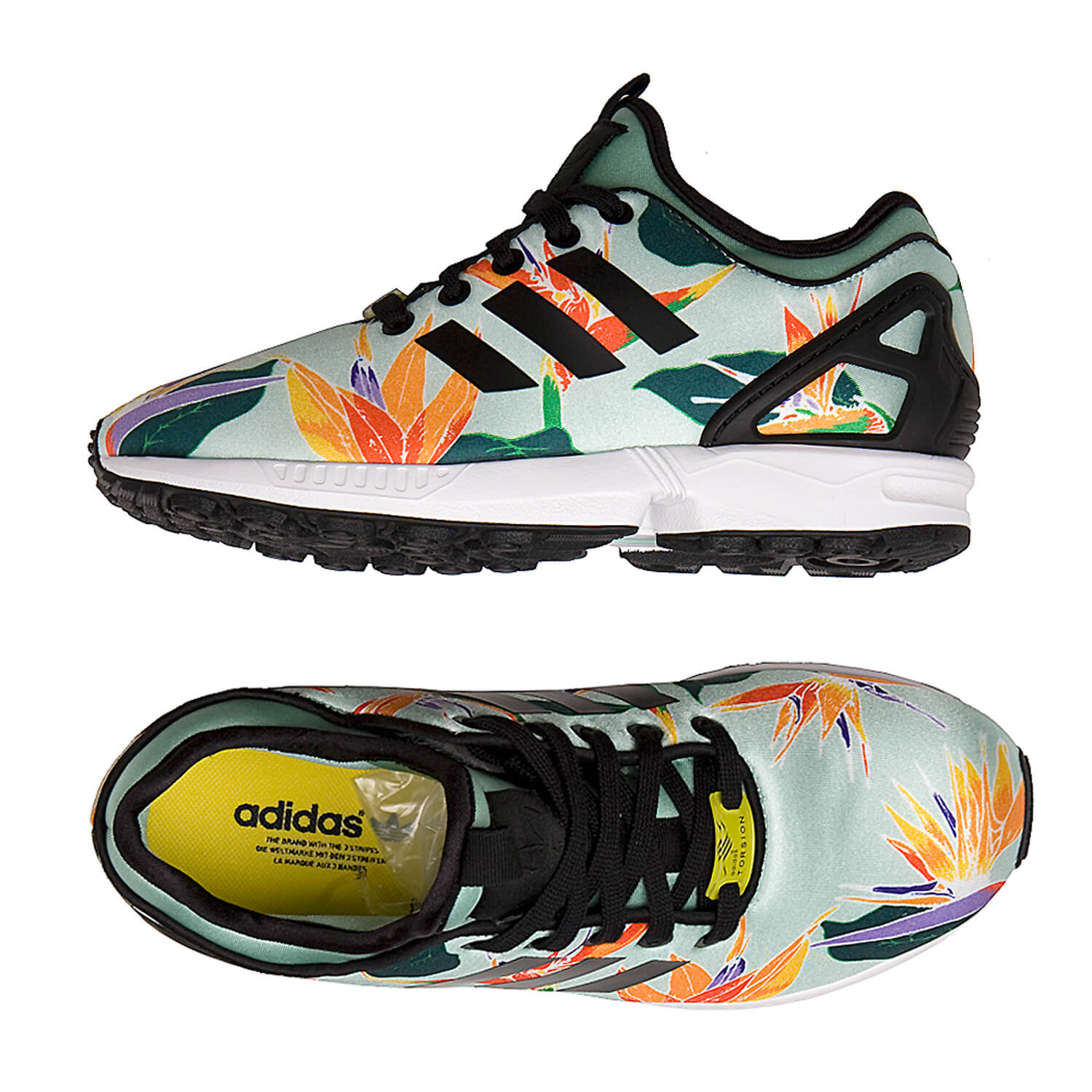 adidas zx flux nps damen schuhe blue green blumen. Black Bedroom Furniture Sets. Home Design Ideas